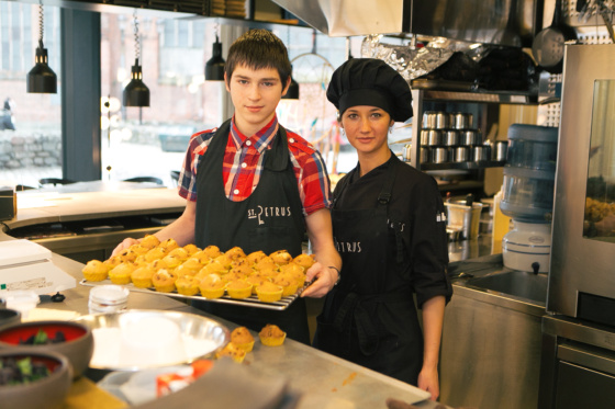 Учимся готовить вместе в ресторане  St.Petrus